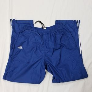 Adidas lined windbreaker pants zip ankles XL